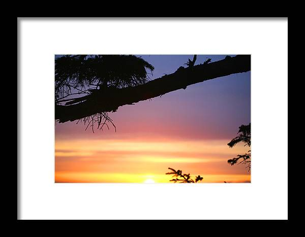 Sunset Framed Print featuring the photograph Sequim Sunset Ss 2007 by Mary Gaines