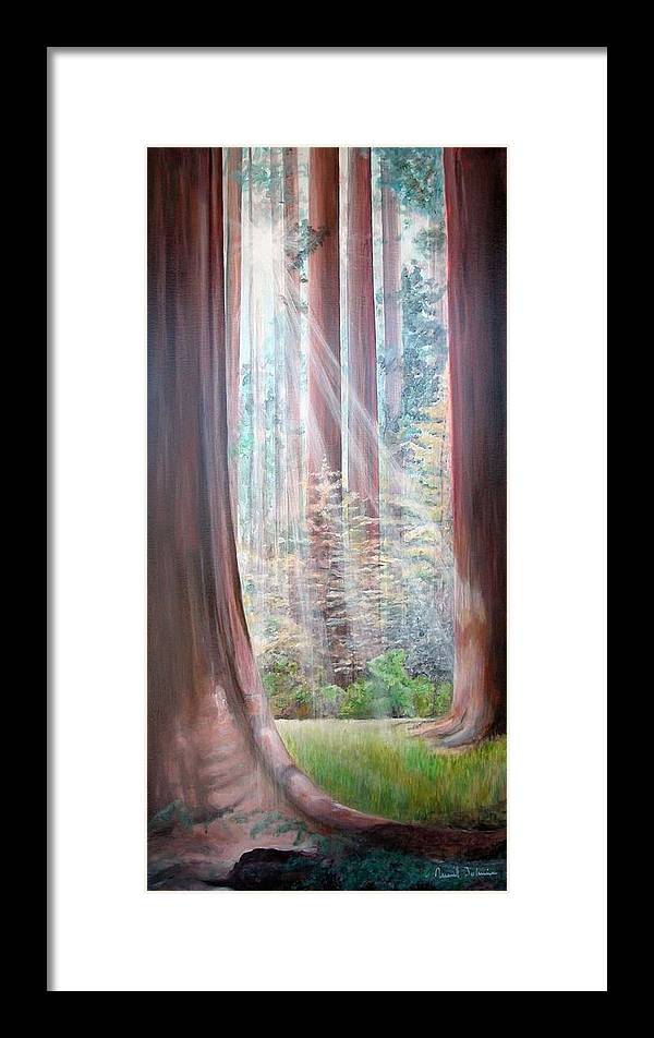 Landscape Framed Print featuring the painting Sequoia by Muriel Dolemieux