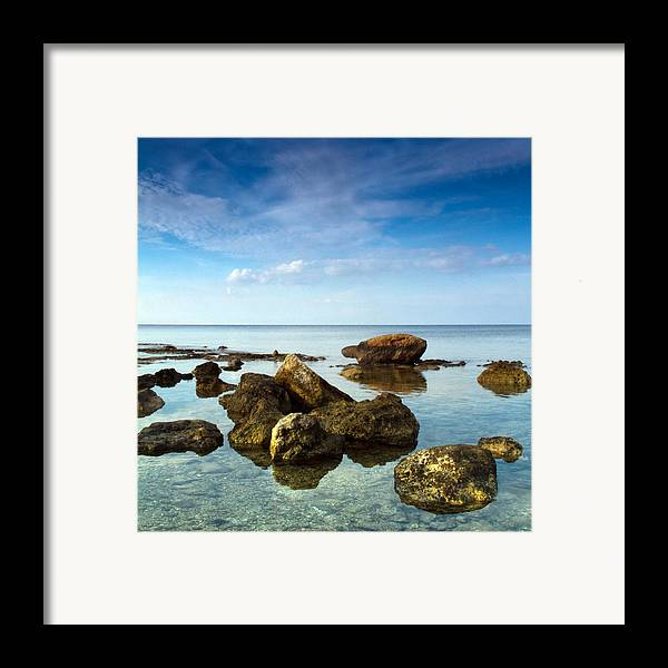 Abstract Framed Print featuring the photograph Serene by Stelios Kleanthous