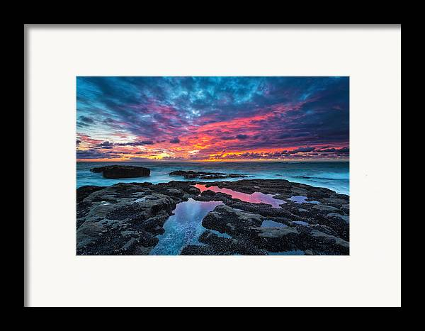 Sunset Framed Print featuring the photograph Serene Sunset by Robert Bynum