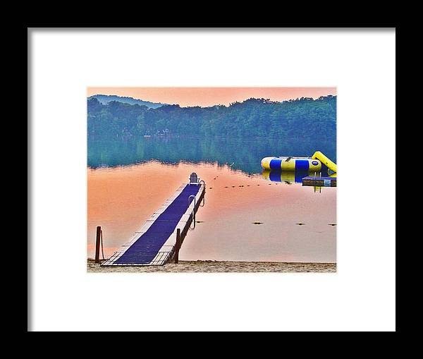 Landscape Framed Print featuring the photograph Serenity At Dusk by Allan Einhorn