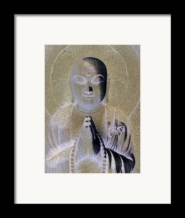 Buddha Framed Print featuring the photograph Serenity by Curtis Schauer