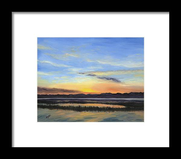 Marsh Paintings Framed Print featuring the painting Serenity by Deborah Butts