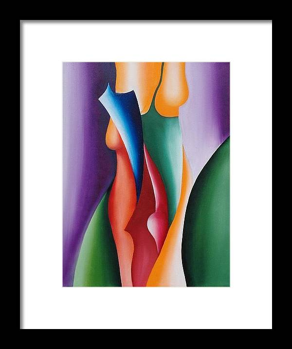 Painting Framed Print featuring the painting Serenity by Fatma Gulnar