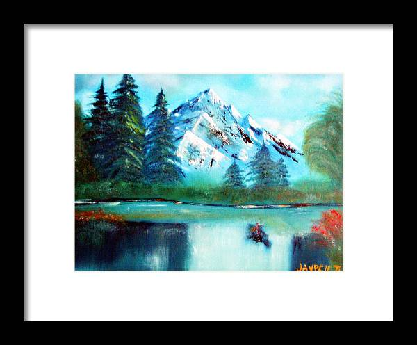 Mountain Framed Print featuring the painting Serenity by Janpen Sherwood