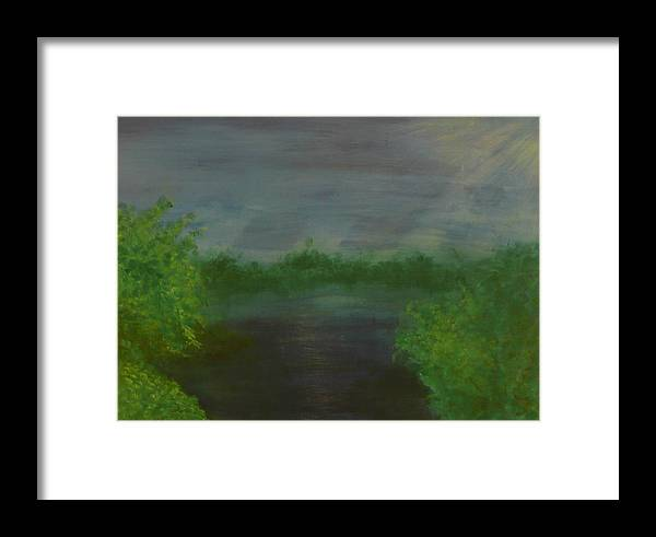 Landscape Framed Print featuring the painting Serenity by Jennifer Hernandez