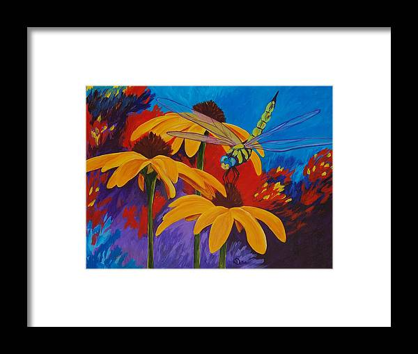 Daisy Framed Print featuring the painting Serenity by Karen Dukes