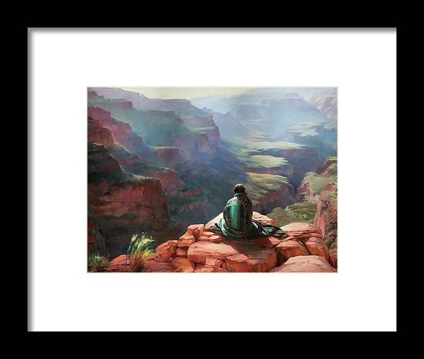 Southwest Framed Print featuring the painting Serenity by Steve Henderson