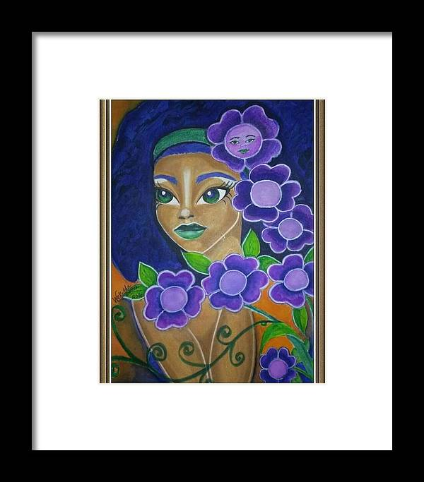 Peaceful Framed Print featuring the painting Serenity by Wykeitha Benton