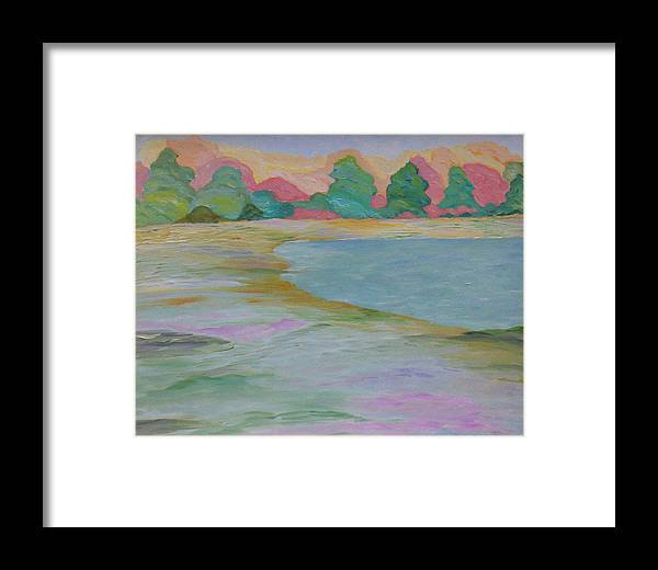 Lake Framed Print featuring the painting Serinity by Cary Singewald