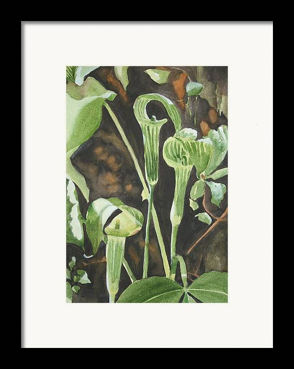 Woods Framed Print featuring the painting Sermon In The Woods by Jean Blackmer