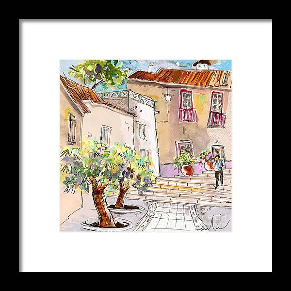 Portugal Paintings Framed Print featuring the painting Serpa Portugal 36 by Miki De Goodaboom
