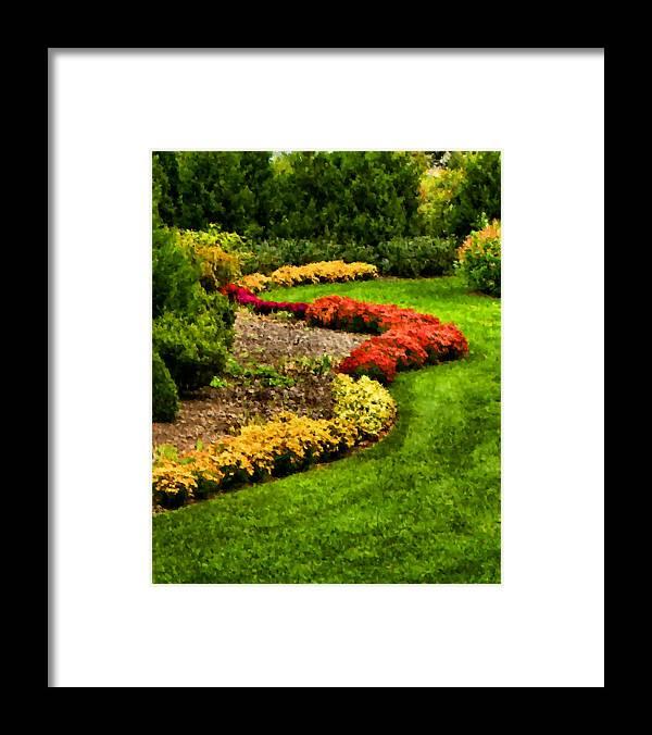 Garden Framed Print featuring the digital art Serpentine by Kristin Elmquist