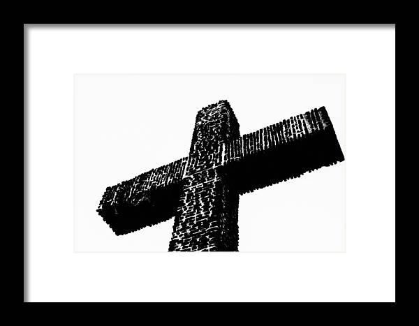 Cross Framed Print featuring the photograph Serra Cross by Joseph S Giacalone