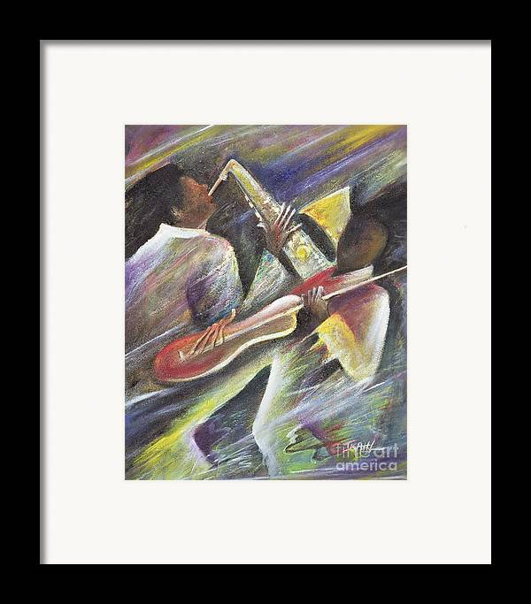 African-american; African Framed Print featuring the painting Session by Ikahl Beckford