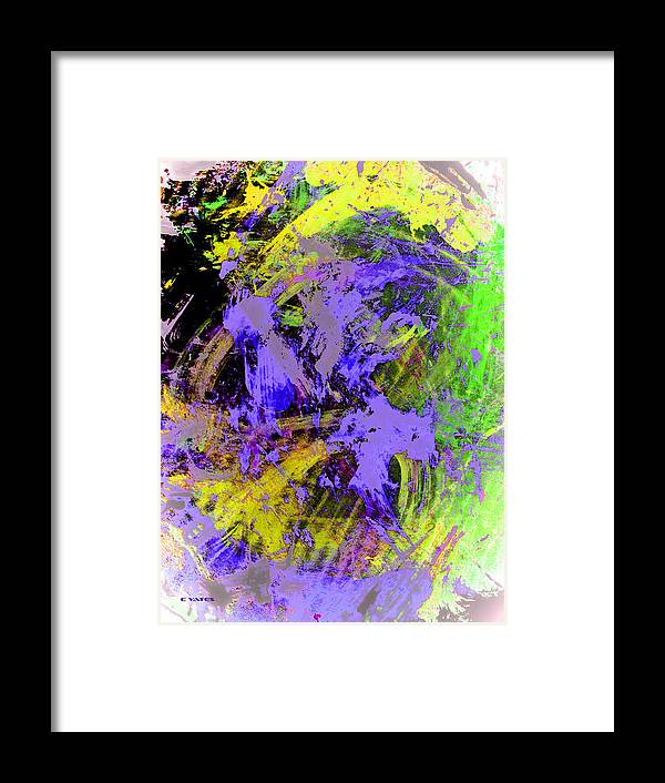 Abstract Framed Print featuring the painting Set In Motion by Charles Yates