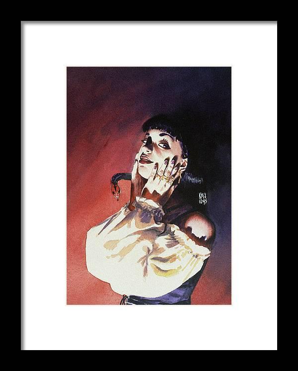 Women Framed Print featuring the painting Set by Ken Meyer jr