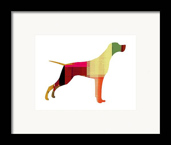 Setter Pointer Framed Print featuring the painting Setter Pointer by Naxart Studio