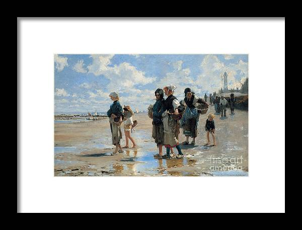Sargent Framed Print featuring the painting Setting Out To Fish by John Singer Sargent
