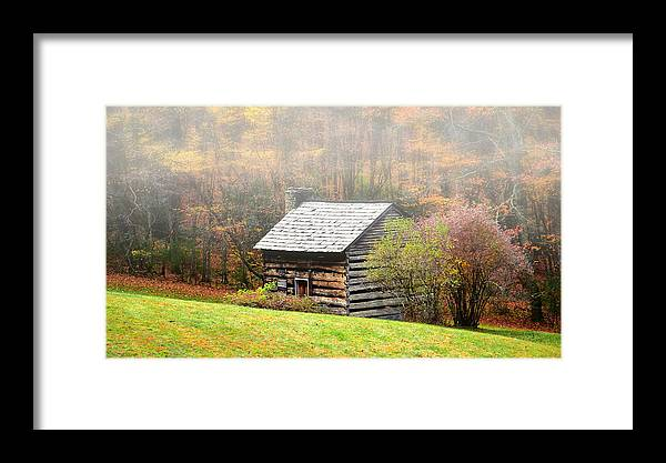 Ann Keisling Framed Print featuring the photograph Settle Into The Fog by Ann Keisling