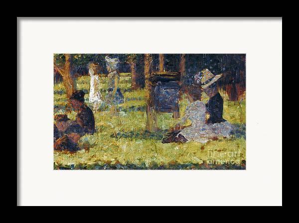 1884 Framed Print featuring the photograph Seurat: Grande Jatte, 1884 by Granger