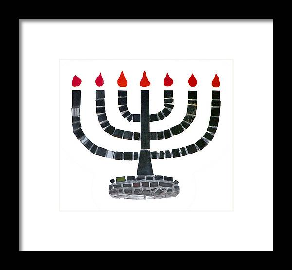 Menorah Framed Print featuring the photograph Seven-branched Temple Menorah by Christine Till
