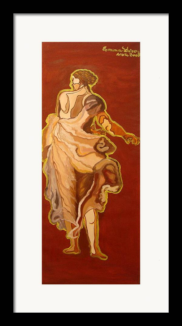 Figurative Framed Print featuring the painting Seventeenth Portrait by Erminia Schirru
