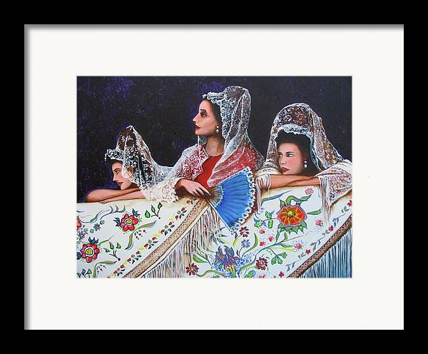 Beauty Again Framed Print featuring the painting Sevilla's Ladies by Jorge Parellada