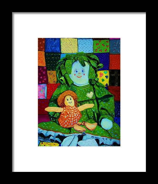 Dolls Framed Print featuring the print Sew Sweet by Melinda Etzold