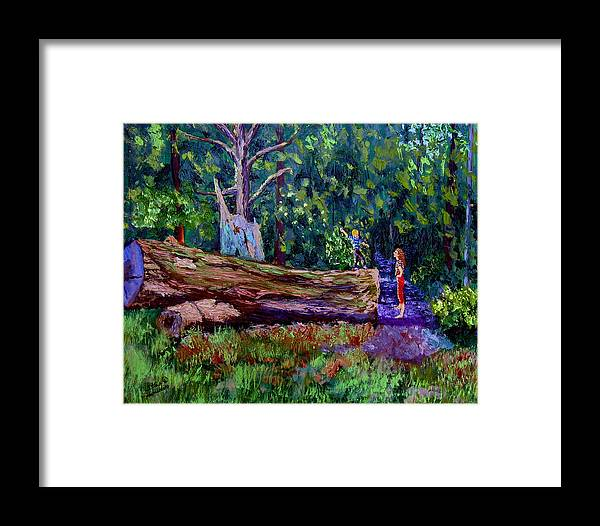 Woods Framed Print featuring the painting Sewp 6 21 by Stan Hamilton