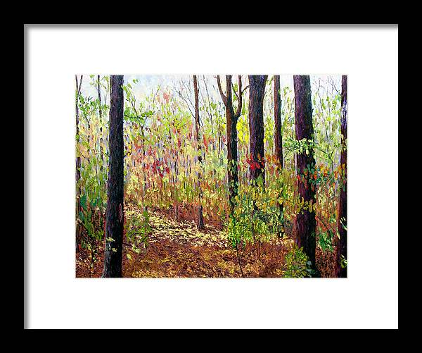 Original Oil On Canvas Framed Print featuring the painting Sewp 7-05 by Stan Hamilton