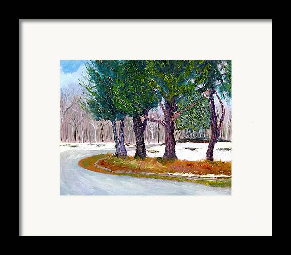 Landscape Framed Print featuring the painting Sewp Early Spring by Stan Hamilton