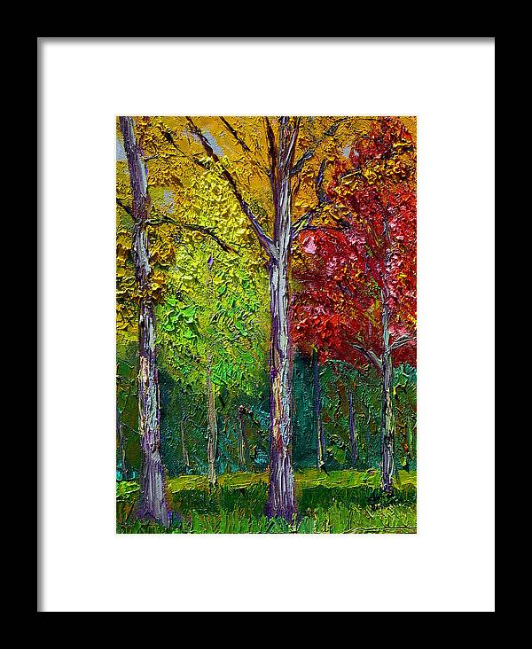 Fall Framed Print featuring the painting Sewp Fall by Stan Hamilton