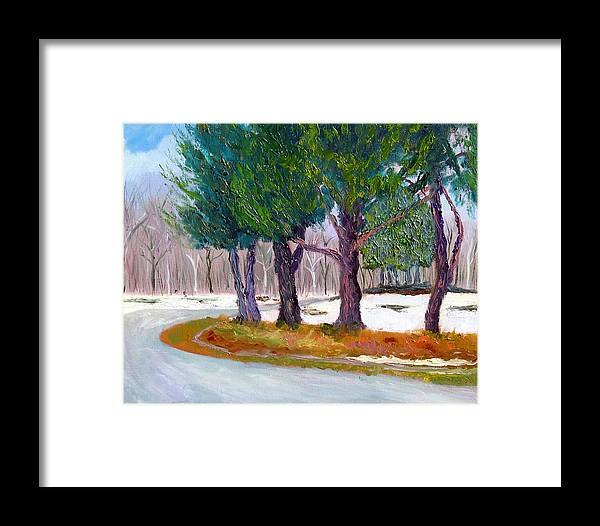 Landscape Framed Print featuring the painting Sewp Spring Thaw by Stan Hamilton