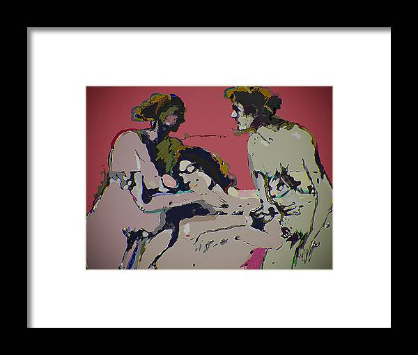 Social Framed Print featuring the digital art Sexual Anxiety by Noredin MorgaN