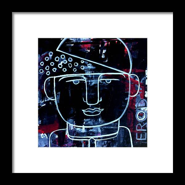 Faces Framed Print featuring the painting Sexy Successful And Open Minded by Robert R Splashy Art Abstract Paintings