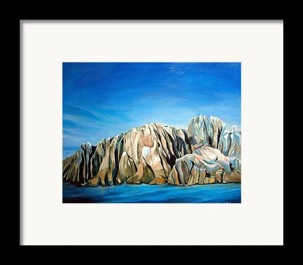 Paysage Framed Print featuring the painting Seychelles by Muriel Dolemieux