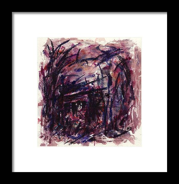 Shack Framed Print featuring the painting Shack Third Movement by Rachel Christine Nowicki