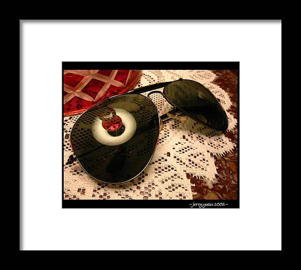 Sunglasses Framed Print featuring the photograph Shades by Gerard Yates