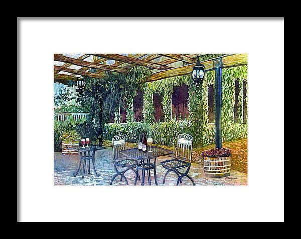 Wine Framed Print featuring the painting Shades Of Van Gogh by Hailey E Herrera