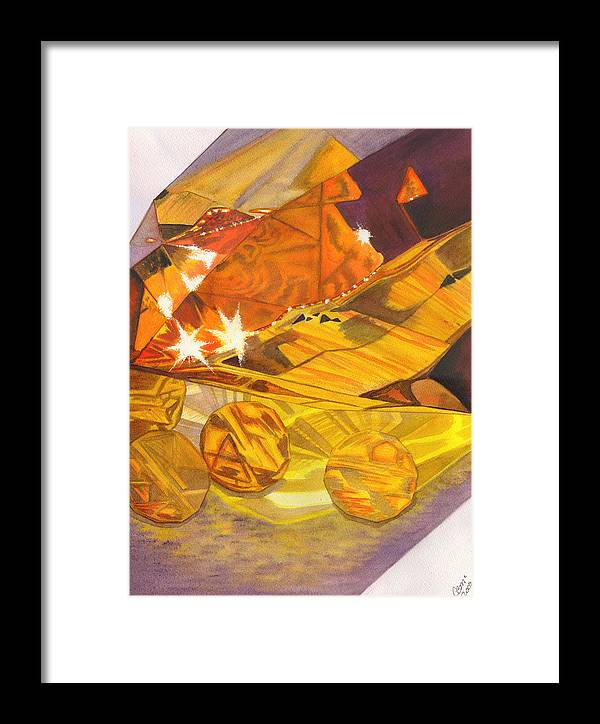 Prism Framed Print featuring the painting Shades Of Yellow by Catherine G McElroy