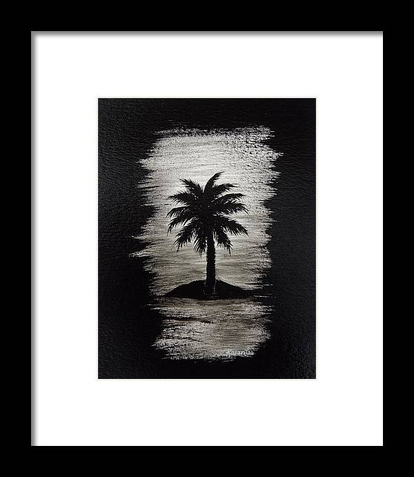 Palm Trees Framed Print featuring the painting Shadow Beach by Karen Lee