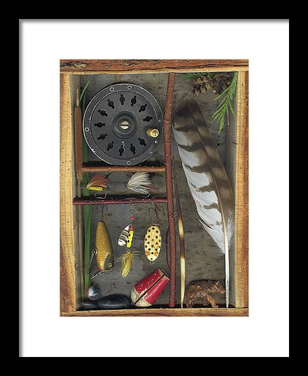 Shadow Box Framed Print featuring the mixed media Shadow Box A by Sandi F Hutchins