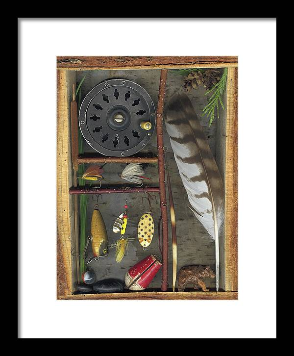 Shadow Box Framed Print featuring the mixed media Shadow Box A by Sandi F Hutchins