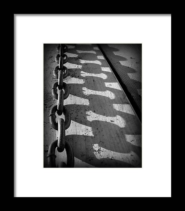 Chain Framed Print featuring the photograph Shadow Chain by Perry Webster