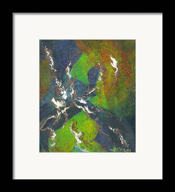 Collage Framed Print featuring the painting Shadow Dancing by Tara Milliken