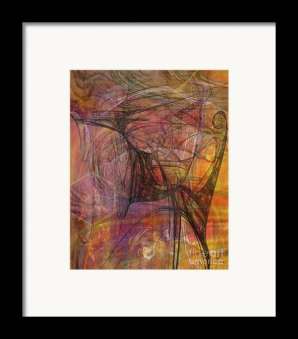 Shadow Dragon Framed Print featuring the digital art Shadow Dragon by John Beck