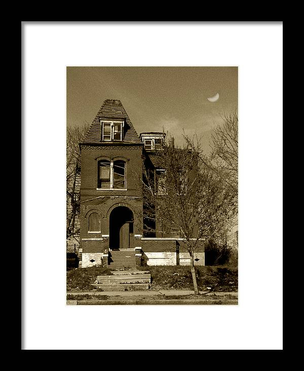 House Framed Print featuring the photograph Shadow House by Lenora Stewart