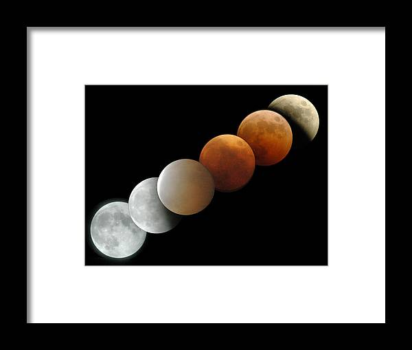 Moon Framed Print featuring the photograph Shadow Of The Earth by Brian Lockett
