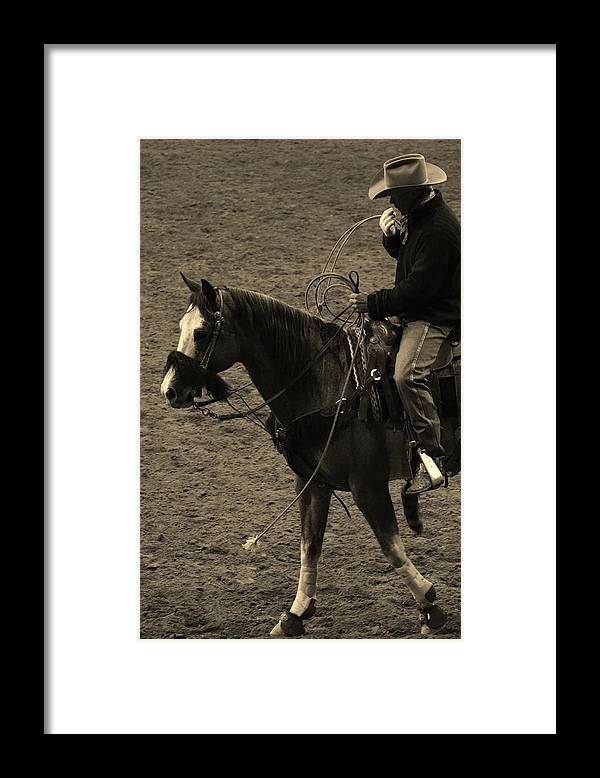 Horse Framed Print featuring the photograph Shadow Rider by Paulina Roybal